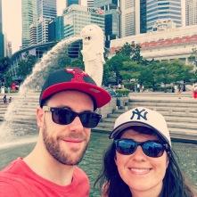 Selfie Singapour (Merlion)